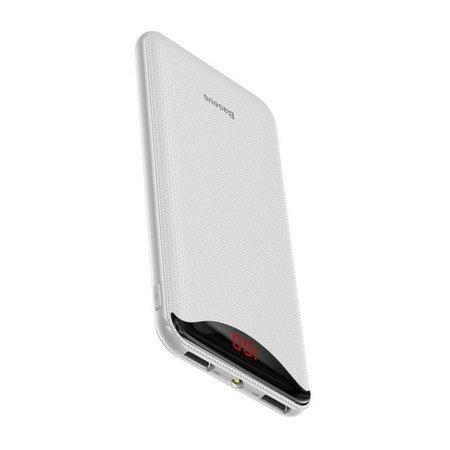 Baseus Gentleman power bank ładowarka 10000mAh 2x USB 2.1A biały (PPLN-02)