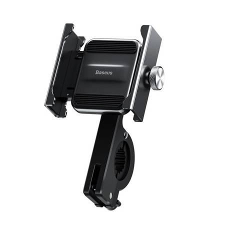 Baseus Knight metalowy uchwyt do telefonu na rower motor motocykl na kierownicę czarny (CRJBZ-01)