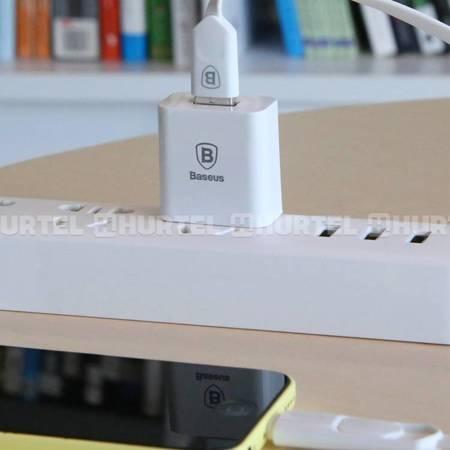 Baseus Letour adapter ładowarka sieciowa EU zasilacz do telefonu USB 2.1A biała (CCALL-E2A02)