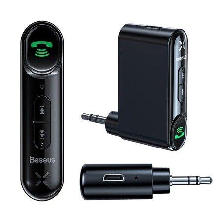 Baseus Qiyin odbiornik dźwięku Bluetooth audio AUX mini jack do samochodu czarny (WXQY-01)