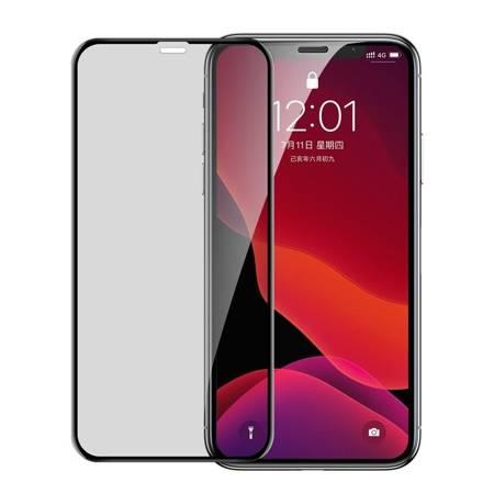 Baseus szkło na cały ekran Full Screen Privacy Anti-Spy z ramką 0.23mm 9H iPhone 11 / iPhone XR + pozycjoner czarny (SGAPIPH61-CTG01)