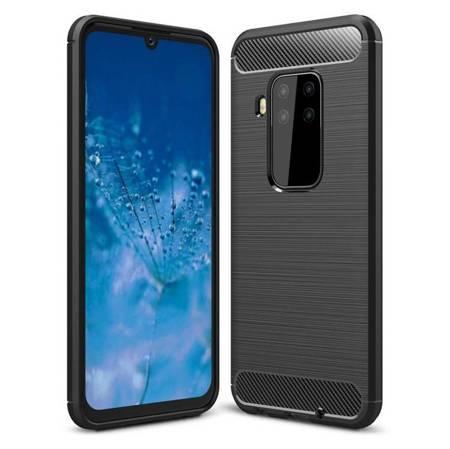 Carbon Case elastyczne etui pokrowiec Motorola Moto One Pro / Zoom czarny