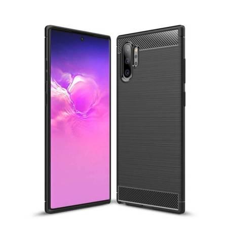 Carbon Case elastyczne etui pokrowiec Samsung Galaxy Note 10 Plus czarny