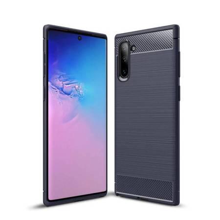 Carbon Case elastyczne etui pokrowiec Samsung Galaxy Note 10 niebieski