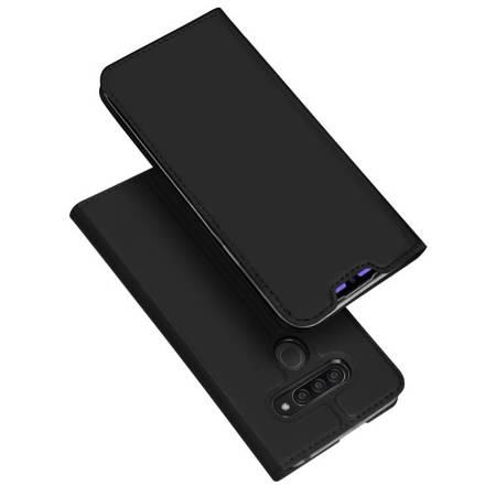 DUX DUCIS Skin Pro kabura etui pokrowiec z klapką LG Q60 / LG K50 czarny
