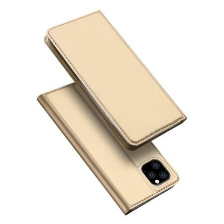 DUX DUCIS Skin Pro kabura etui pokrowiec z klapką iPhone 11 Pro Max złoty