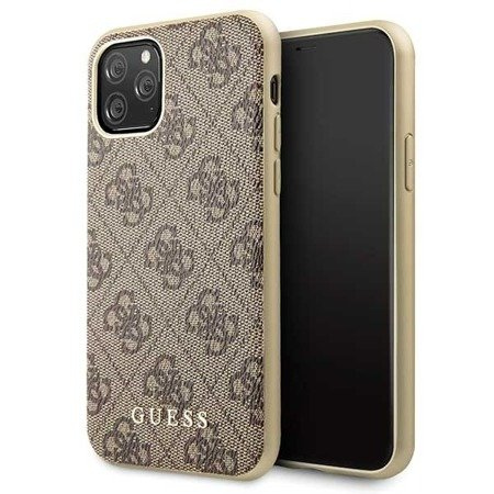 Etui Guess GUHCN58G4GB iPhone 11 Pro brązowy/brown hard case 4G Collection