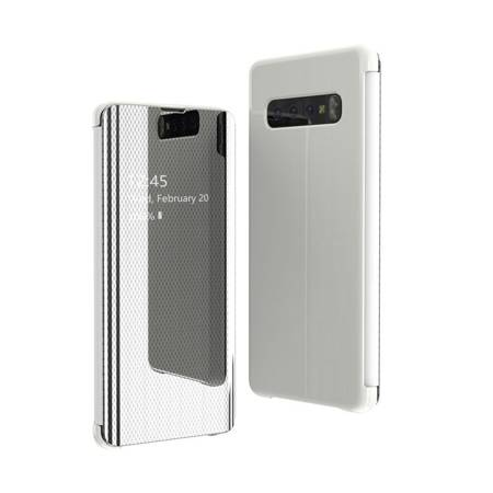 Flip View futerał etui z klapką Samsung Galaxy S10 srebrny