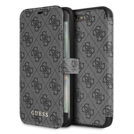 Guess GUFLBKI8L4GG iPhone 7/8 Plus grey/szary book 4G