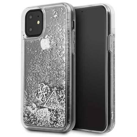 Guess GUHCN61GLHFLSI iPhone 11 srebrny/silver hard case Glitter Hearts