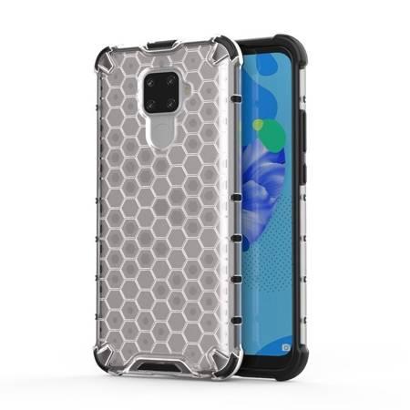 Honeycomb etui pancerny pokrowiec z żelową ramką Huawei Mate 30 Lite / Huawei Nova 5i Pro przezroczysty