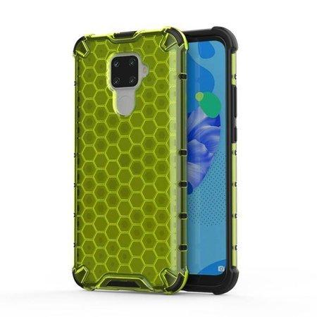 Honeycomb etui pancerny pokrowiec z żelową ramką Huawei Mate 30 Lite / Huawei Nova 5i Pro zielony