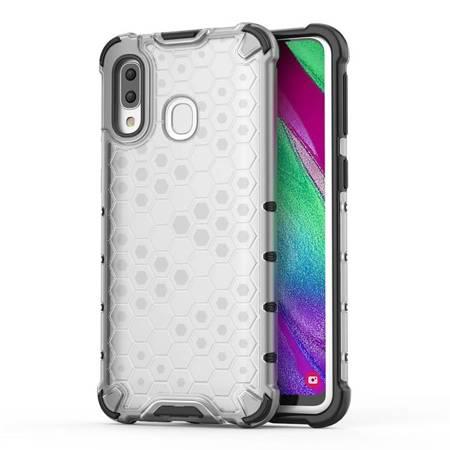 Honeycomb etui pancerny pokrowiec z żelową ramką Samsung Galaxy A40 przezroczysty