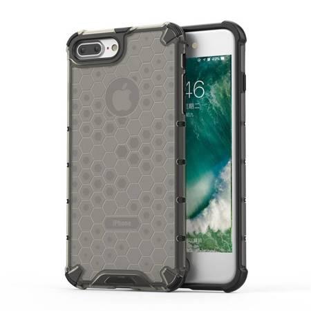 Honeycomb etui pancerny pokrowiec z żelową ramką iPhone 8 Plus / iPhone 7 Plus czarny