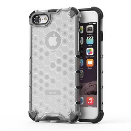 Honeycomb etui pancerny pokrowiec z żelową ramką iPhone 8 / iPhone 7 przezroczysty