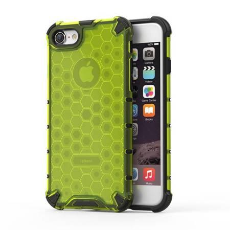 Honeycomb etui pancerny pokrowiec z żelową ramką iPhone 8 / iPhone 7 zielony