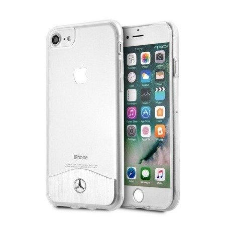 Mercedes MEHCI8TRBRSI Phone 6/7/8 hard case transparent silver