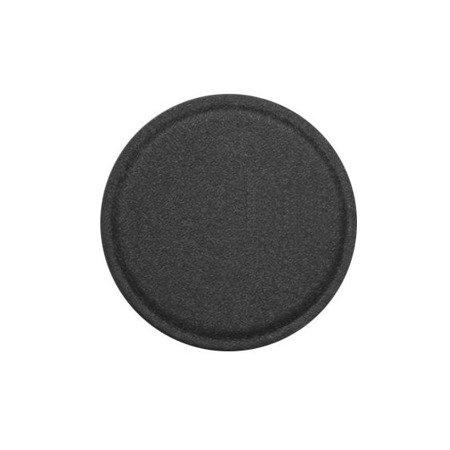 Metal Iron Plate samoprzylepna metalowa płytka w skórzanej nakładce dla uchwytów magnetycznych 40 mm czarny