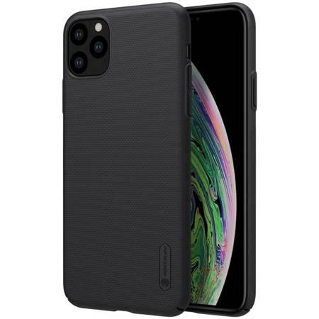 Nillkin Super Frosted Shield wzmocnione etui pokrowiec + podstawka iPhone 11 Pro czarny