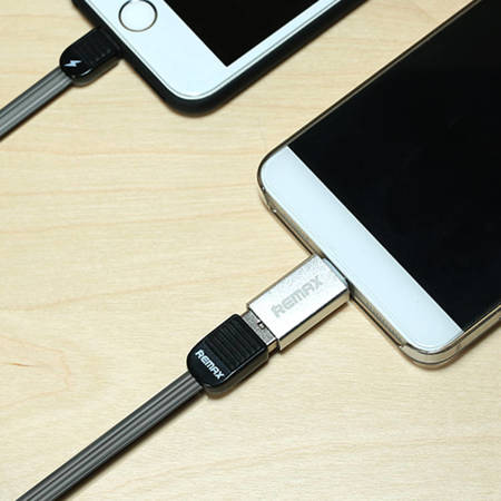 REMAX adapter OTG host USB 3.0 - USB Typ C srebrny