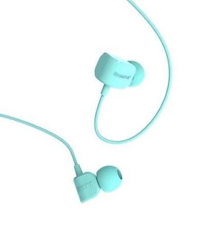Remax dokanałowe słuchawki z mikrofonem i pilotem niebieski (RM-502 blue)