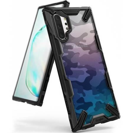 Ringke Fusion X Design etui pancerny pokrowiec z ramką Samsung Galaxy Note 10 Plus czarny (XDSG0020)