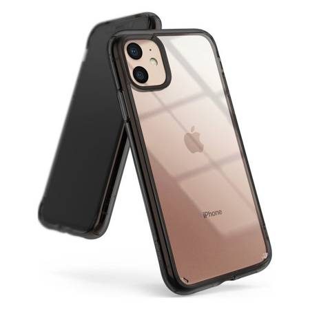 Ringke Fusion etui pokrowiec z żelową ramką iPhone 11 szary (FSAP0041)