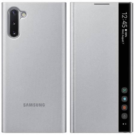 Samsung Clear View Cover futerał etui z inteligentną klapką Samsung Galaxy Note 10 srebrny (EF-ZN970CSEGWW)
