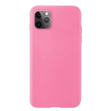 Silicone Case elastyczne silikonowe etui pokrowiec iPhone 11 Pro różowy