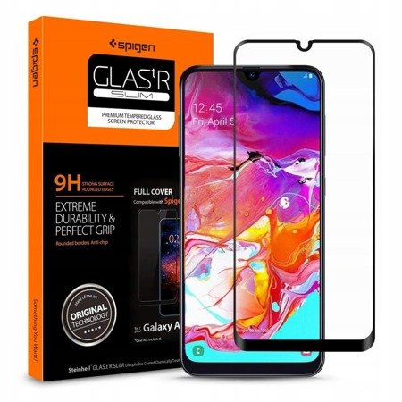 Szkło Hartowane Spigen Glass Fc Galaxy A70 Black