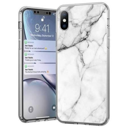 Wozinsky Marble żelowe etui pokrowiec marmur iPhone 8 Plus / iPhone 7 Plus biały