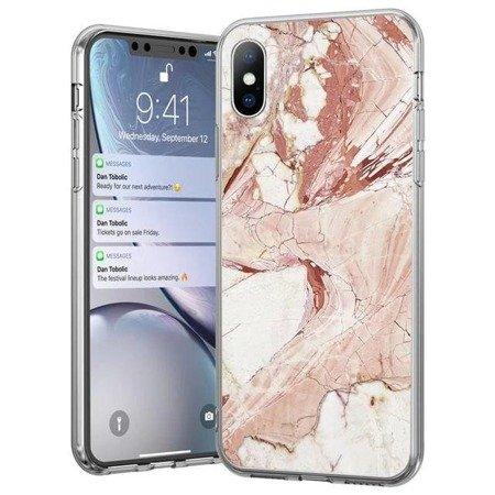 Wozinsky Marble żelowe etui pokrowiec marmur iPhone 8 Plus / iPhone 7 Plus różowy