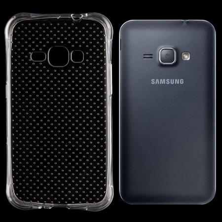 Żelowy pokrowiec etui Anti Shock Samsung Galaxy J1 2016 J120 przezroczysty