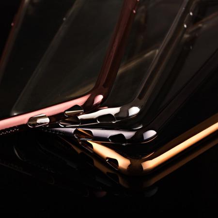 Żelowy pokrowiec etui Metalic Slim Samsung Galaxy J2 2016 J210 różowy