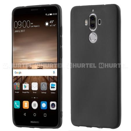 Żelowy pokrowiec etui Soft Matt Huawei Mate 9 czarny