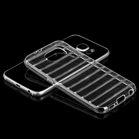 Żelowy pokrowiec etui żeberka Gel Stripes Samsung Galaxy J1 2016 J120 czarny